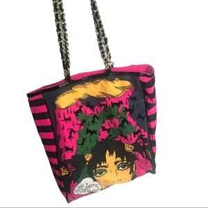 Betsey | *rare* Raining Cats, Get Wet tote bag